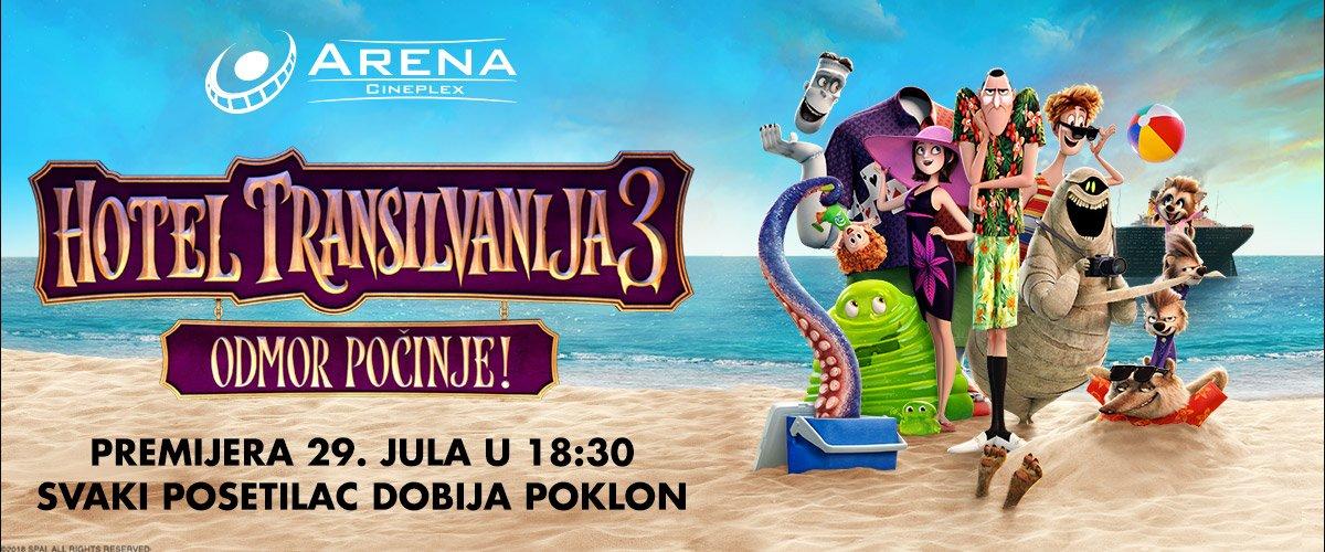 Pripremite se za najčudovišnije praznike ovog leta i potpuno drugačijeg Drakulu. Treći nastavak ovog animiranog hita - Hotel Transilvanija 3: Odmor počinje stiže 29.07.