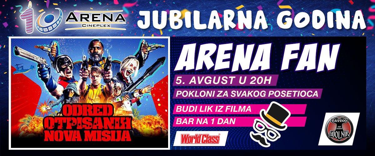 Povodom novosadske premijere filma, posetioci će imati priliku da budu deo Arena Fan večeri, postanu likovi iz filma bar na jedan dan i dobiju razne poklone od prijatelja bioskopa.